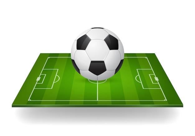 Icono de balón de fútbol en el campo.