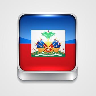 Icono de bandera de estilo de haití