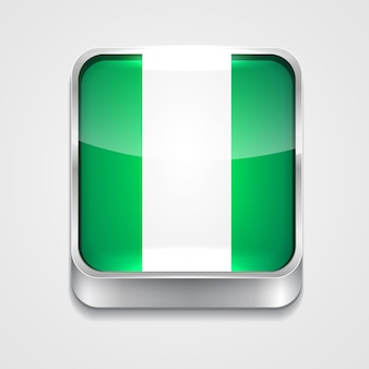 Icono de bandera de estilo de nigeria