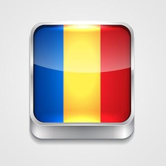 Icono de bandera de estilo de rumania