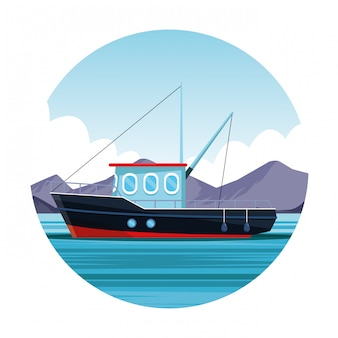 Icono de barco de pesca