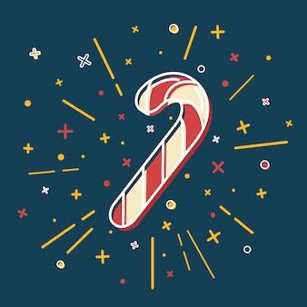 Icono de bastón de caramelo de navidad