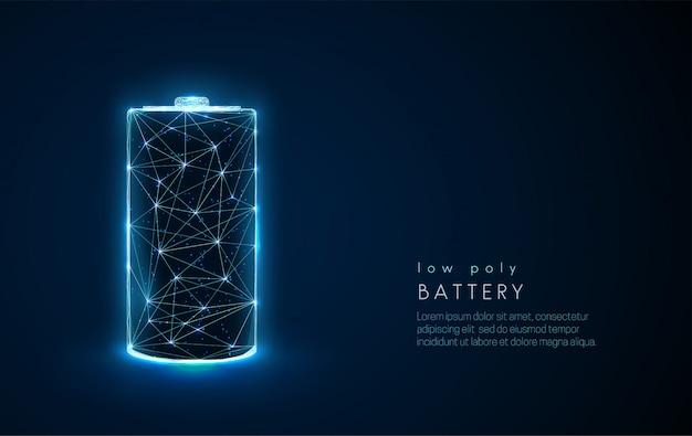 Icono de batería abstracta