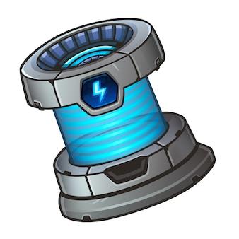Icono de batería para juego de tragamonedas espacial