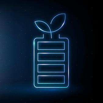 Icono de batería recargable vector símbolo respetuoso del medio ambiente