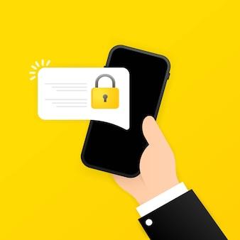 Icono de bloqueo de teléfono inteligente