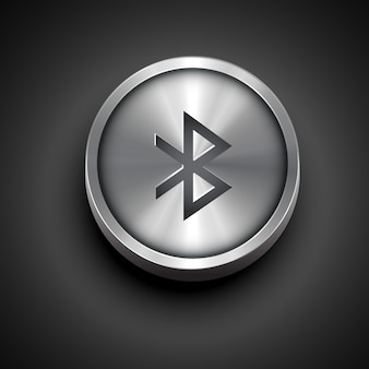 Icono de bluetooth metálico