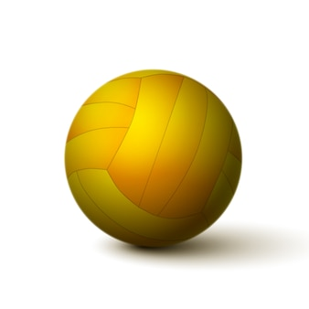 Icono de bola de voleibol realista aislado