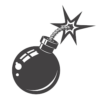 Icono de bomba sobre fondo blanco. elementos para logotipo, albel, emblema, signo. ilustración.