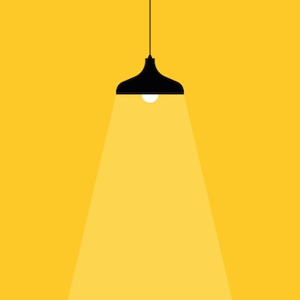 Icono de bombilla. lugar para su texto. lámparas de luces ligeras.