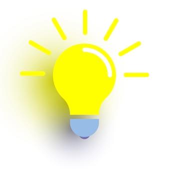 Icono de bombilla. símbolo de ideas