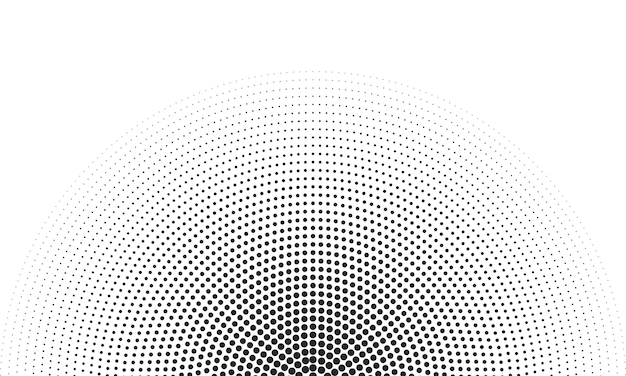 Icono de borde redondo con textura de trama de puntos de círculo de semitono