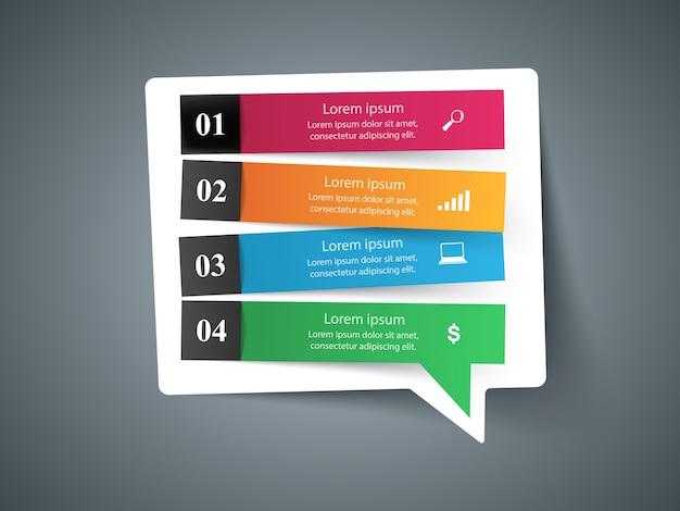 Icono de bubl de voz. información del cuadro de diálogo