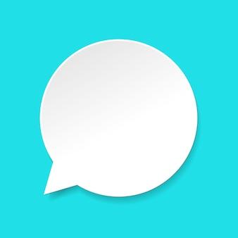Icono de burbuja de discurso, globo de diálogo vacío o en blanco de dibujos animados para texto en imagen de estilo de papel