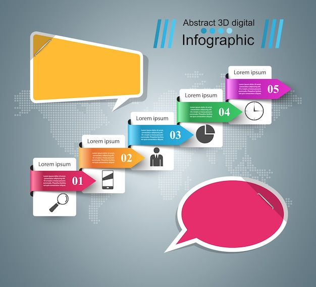 Icono de burbujas de discurso. información del cuadro de diálogo. infografía abstracta