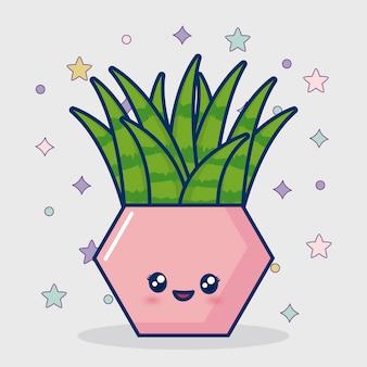 Icono de cactus kawaii