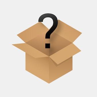 Icono de caja misteriosa.