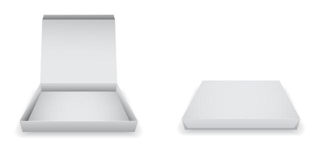 Icono de caja de pizza de papel vacía