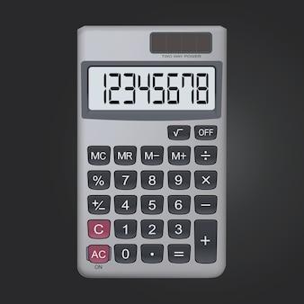 Icono de calculadora realista de 8 dígitos