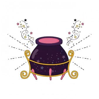Icono de caldero de bruja mágica
