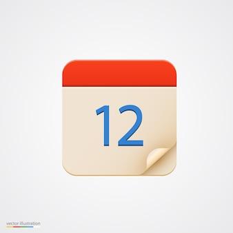 Icono de calendario sobre fondo brillante