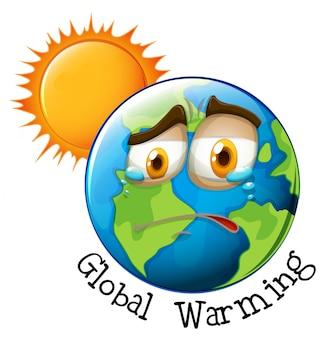Icono del calentamiento global