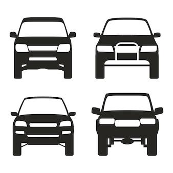 Icono de camioneta todoterreno 4x4 todoterreno ilustración vectorial