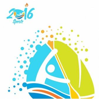 Icono de canoa de los juegos olímpicos de río