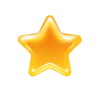 Icono de caramelo de jalea estrella de miel.