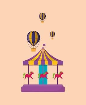 Icono de carrusel de carnaval
