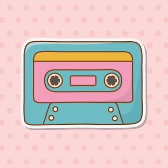 Icono de cassette cartoon