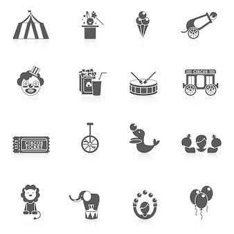 Icono de circo negro