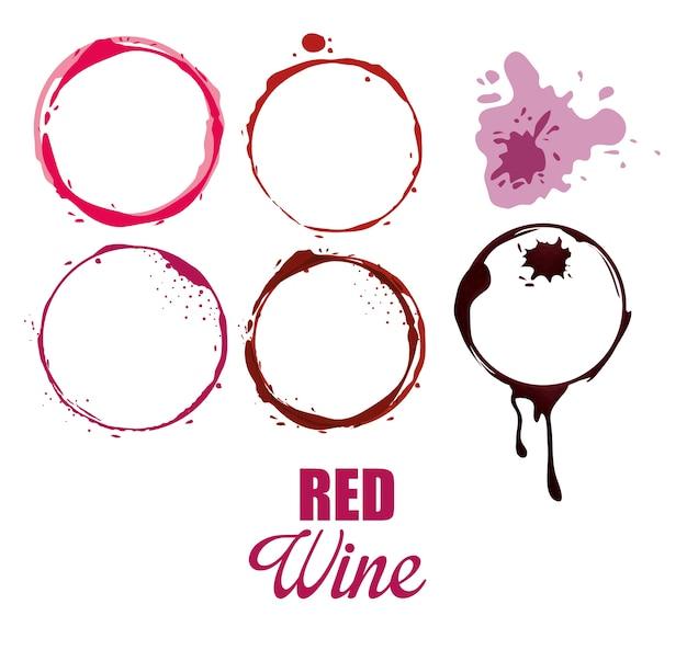 Icono de círculos de etiqueta de vino