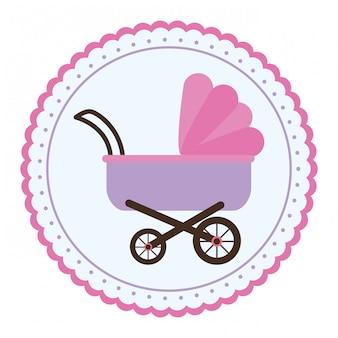 Icono de cochecito de bebé