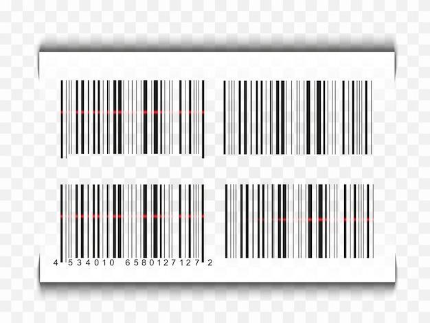 Icono de código de barras realista. código de barras plano.