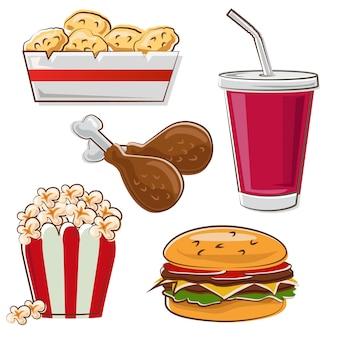 Icono de comida rápida en estilo doodle