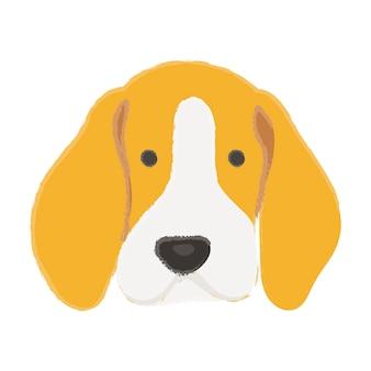 Icono de compañía amantes del perro lindo mejor amigo mascota amigable