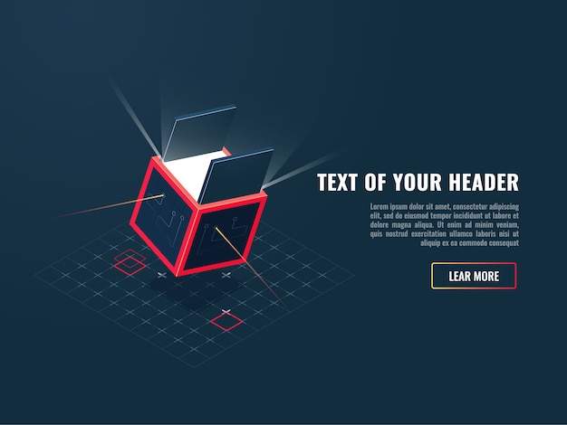 Icono del concepto de comprar producto digital, además del juego, bloque de almacenamiento de datos