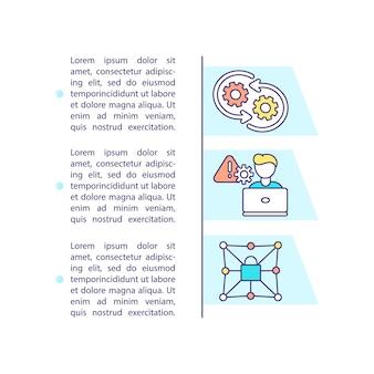 Icono de concepto de mantenimiento de aplicaciones con texto