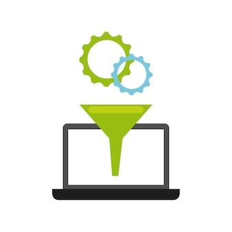 Icono de concepto de programación de software