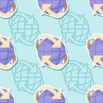 Icono de conexión de patrones sin fisuras