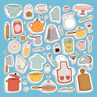 Icono de conjunto de cocina.