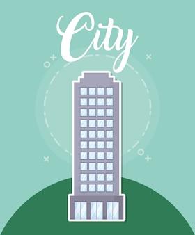 Icono de construcción de la ciudad