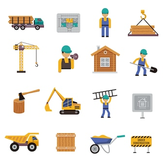 Icono de construcción plano