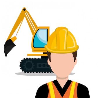 Icono de constructor constructor trabajador