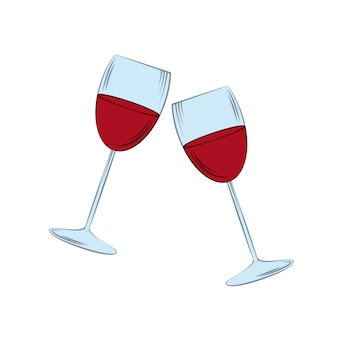Icono de copas sobre fondo blanco. diseño colorido. ilustración vectorial