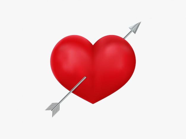 Icono de corazón y flecha