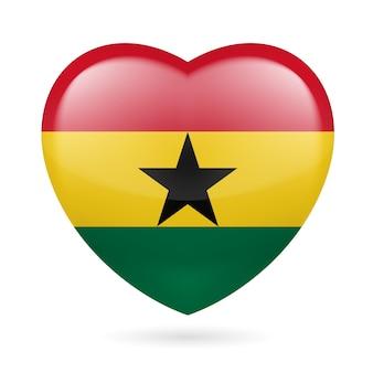 Icono del corazón de ghana