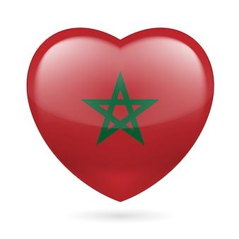 Icono del corazón de marruecos