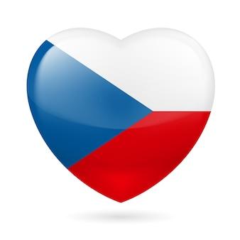Icono del corazón de república checa